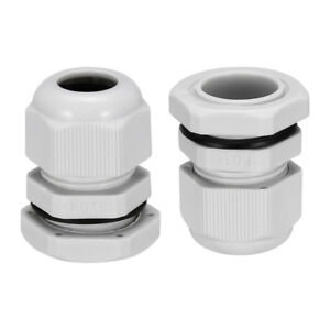 100pcs Pg16 Cable Gland Waterproof Joint Adjustable White For 7mm 12mm Dia Wire