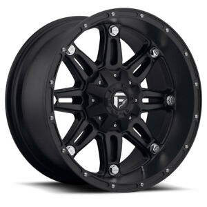 20 Fuel Offroad D531 Hostage Matte Black 20x12 Wheel Set 20inch Rims Trucks