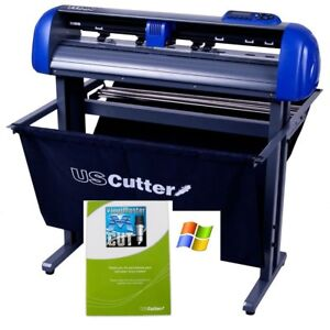 Uscutter Titan 28 Inch Vinyl Cutter With Stand Basket And Vinylmaster Cut
