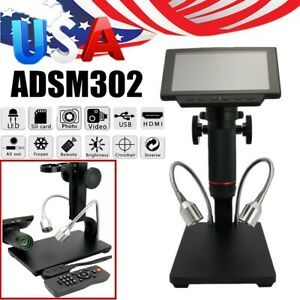 Pro Andonstar Hdmi Digital Microscope Adsm302 5 Screen Pcb Solder Repair