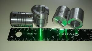 4 Cnc 1 4 Motor Shaft To 1 2 Acme Screw Flexible Coupler Ld