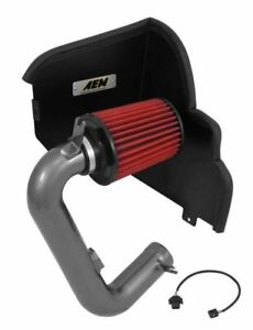Aem Gunmetal Cold Air Intake Kit For 15 18 Subaru Wrx 2 0l W Heat Shield 25hp
