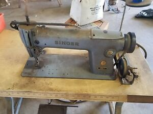Commercial Singer Sewing Machine Walking Foot Upholstery Machine W Base 281 1