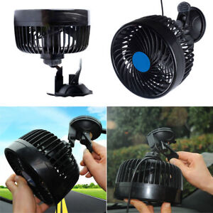 Car 12v Fan Caravan Boat Rotation Powerful Camper Van Travel 12 Volt 9w 6