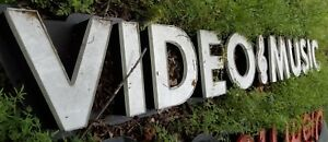 Used Lighted Video Music Channel Letters Wall Sign