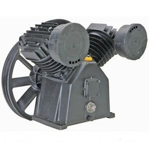 5 Hp 145 Psi Twin Cylinder Air Compressor Cast Iron Pump New Free Shipping