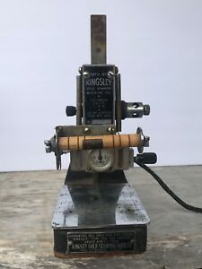 Vintage Kingsley Hot Foil Stamping Machine Model M 50 M50 With Type Holder