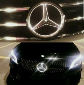For Mercedes Benz Front Grille Star Emblem 2011 2015 Illuminated Led White Light
