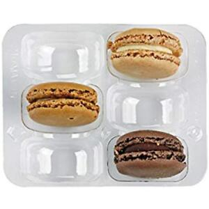 Kitchen Utensils Gadgets Clear Plastic Macaron Insert With Clip Closure Holds