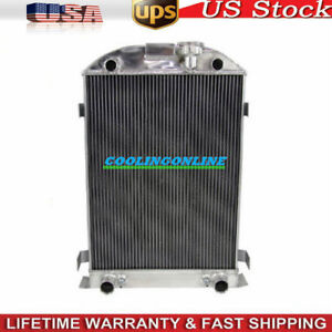 4row Core Aluminum Radiator Fits Ford Model A Flathead 1935 1936 28 Height