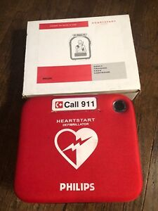 Philips Heartstart Home Aed Defibrillator M5068a With Red Case Unused
