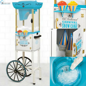 Snow Cone Cart Shaving Ice Vintage Machine Shaved System Maker Shaver Crusher