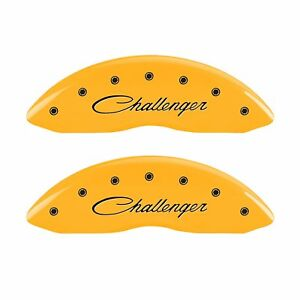 Mgp Caliper Covers 12088sclsyl Caliper Cover Set Of 4 Yellow Engraved Front And