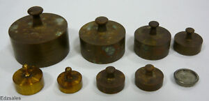 Vintage Balance Scale Weights Set 20 10 5 2 1 Dkg 4 2dr Ap