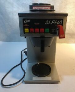 Curtis Commercial Alpha 3ds Coffee Maker Brewer Machine Alp3ds63a038 Works Great