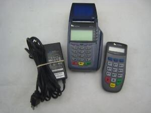 Verifone Point Of Sale Credit Card Terminal Omni 5100 Vx510 With Pinpad adapter