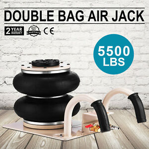 5500lbs Double Bag Air Jack Pneumatic Jack Heavy Duty Heavy Load Lifting Updated