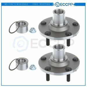 2 Front Wheel Hubs Bearings Pair Set Of For Ford Escape Mazda Tribute Mariner