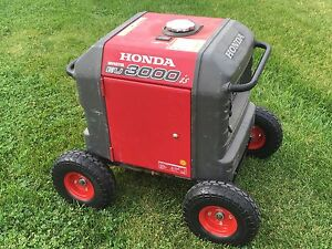 Honda Generator Wheel Kit For Eu3000is never Flat Tires all Terrain red Color