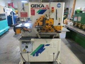 Geka Hydraulic Ironworker 60 Ton Model 55a