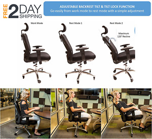 New Ergonomic Adjustable Office Chair With Lumbar Support And Rollerblade Wheels