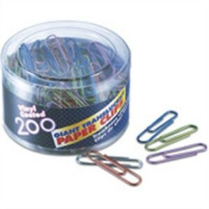 Officemate International 97212 Giant Paper Clips Assorted Colors 200 Count Pack