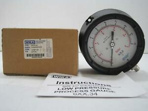 New Wika Type 632 34 0 10 In H2o 6 Oz in2 Low Pressure Gauge 1 4 Npt Lm 4217187