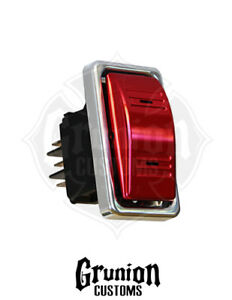 Billet Switch Actuator Cover for Carling Rocker Red Anodized Contura ARB Boat $56.25