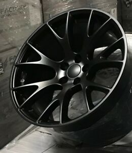 4 20 Hellcat Staggered Tires Wheels Package Satin Black Charger Challenger