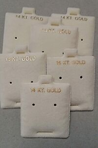 New Wholesale Lot 1000 Pc Earrings Puff Pad Stud Earring Card Display Cream