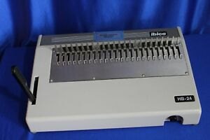 Ibico Hb 24 Manual Plastic Comb Binder Very Good Condition