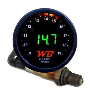 Apsx V2 Anti Glare D2 Digital Wideband O2 Afr Gauge Sensor Kit Black Green