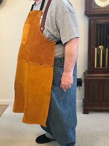 big Tall Leather Shop Apron Safety Apparel For Welding Woodworking etc
