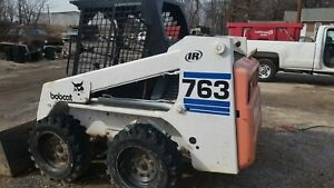 1997 Or 1998 Bobcat 763 Rubber Tire Skid Steer Loader Kubota Diesel