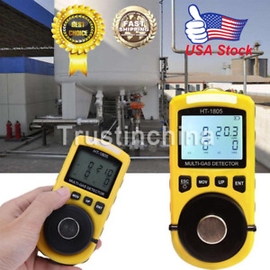 Ht 1805 4 In1 Gas Analyzer Detector Portable O2 Co H2s Harmful Gas Tester In Us