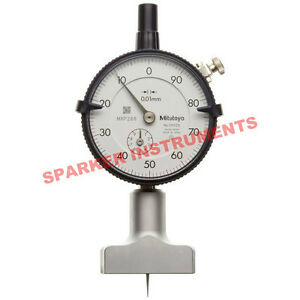 Brand New Mitutoyo 7210 Dial Depth Gauge 0 10 0 01mm fp
