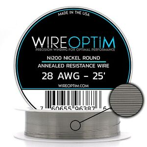 Wireoptim Annealed Ni200 Nickel 28 Gauge Awg 25 Non Resistance Wire