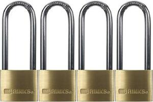 Brinks 161 42401 1 9 16 inch 40mm Solid Brass Padlock With 2 5 inch Shackle
