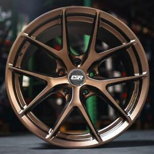 New Esr Rf2 19x8 5 19x9 5 5x114 3 30 35 Matte Bronze Wheels Staggered Lexus