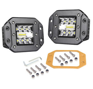 5inch 260w Flush Mount Led Pod Work Light Bar Flood Spot Driving Off Road Suv X2