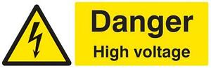 Sign Danger High Voltage Sav Personal Protection Site Safety Signs