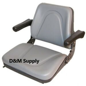 Universal Tractor Seat With Arms Grey To Fit Ih International New Holland Case