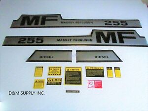 Massey Ferguson 255 Decal Set With Caution Kit 1215 1056