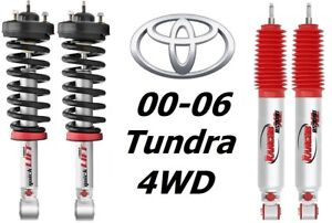 Rancho Front Quicklift Struts Rs9000xl Rear Shocks For 00 06 Toyata Tundra 4wd