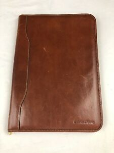 Alessandro Venanzi Leather Portfolio Writing Pad Embossed Italy 10 X 14