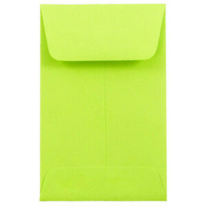 Envelope 2 1 4 X 3 1 2 500 Pack 1 Coin Size Lime Green 60 Stock