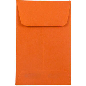Envelope 2 1 4 X 3 1 2 Orange 500 Pack 60 Stock 1 Coin Size