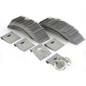 N ice Packaging 500 pcs 2 X 2 Grey Hanging Earring Cards Jewelry Display Rack