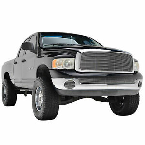 03 05 Dodge Ram 2500 Replacement Billet Grille Chrome Front Hood Grill W Shell