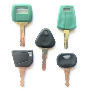 5 Volvo Equipment Ignition Keys Heavy Equipment Key Set With Laser Cut Key